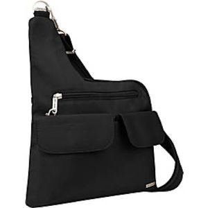 Travelon black one strap sling backpack travel bag